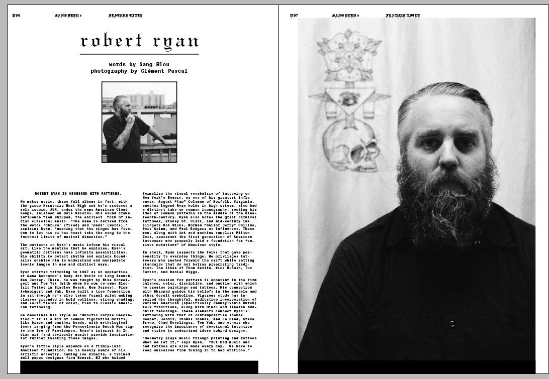 Robert Ryan, for Issue VI – Sang Bleu